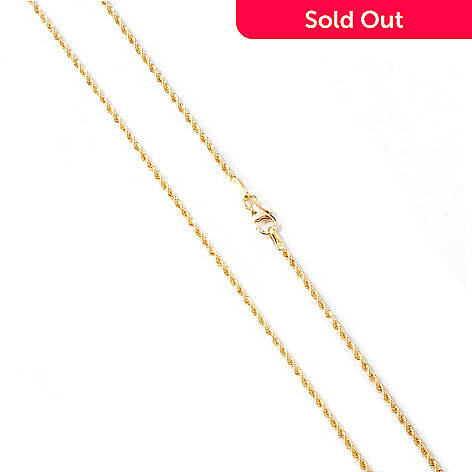 114-036 - Viale18K® Italian Gold 24'' Polished Rope Chain Necklace