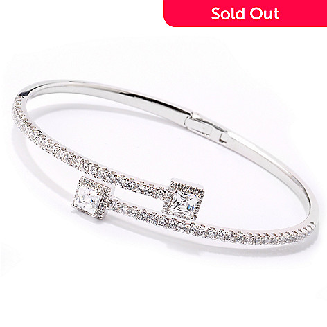 114-154 - TYCOON for Brill Platinum Embraced[ Tycoon Cut Bypass Bracelet