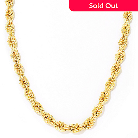 114-208 - Toscana Italiana 18K Gold Embraced™ 22'' Twisted Rope Chain Necklace
