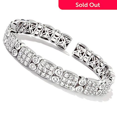 114-370 - Sonia Bitton for Brilliante® 6.5'' or 7.25'' Platinum or Gold Embraced Pave & Bezel Flex Bracelet