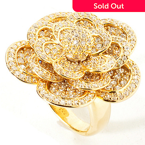 114-627 - Sonia Bitton For Brilliante 3.81 DEW Bold Flower Ring