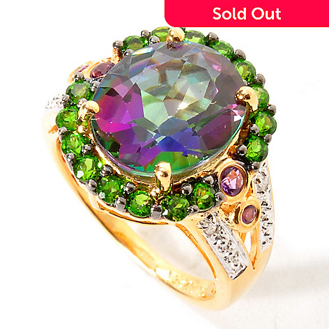 114-732 - NYC II™ Exotic Topaz w/ Exotic Gemstone & Diamond Accent Ring