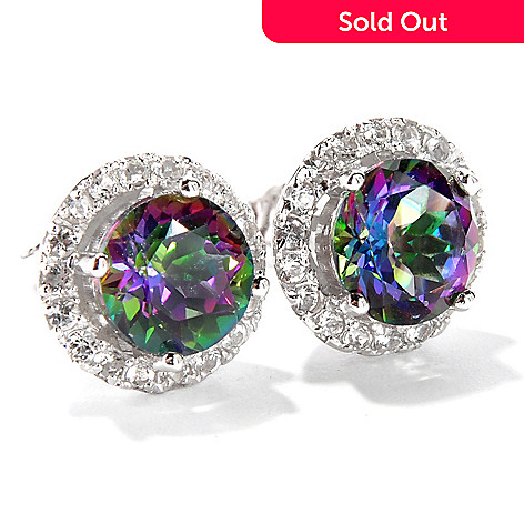 114-810 - Gem Treasures Sterling Silver 8mm Princess Kellie Anne Earrings