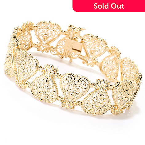 114-903 - Jaipur Jewelry Bazaar™ Gold Embraced™ Ornate Link Bracelet