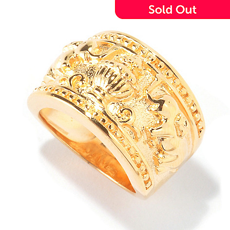 114-906 - Jaipur Jewelry Bazaar™ Gold Embraced™ Elephant Band Ring