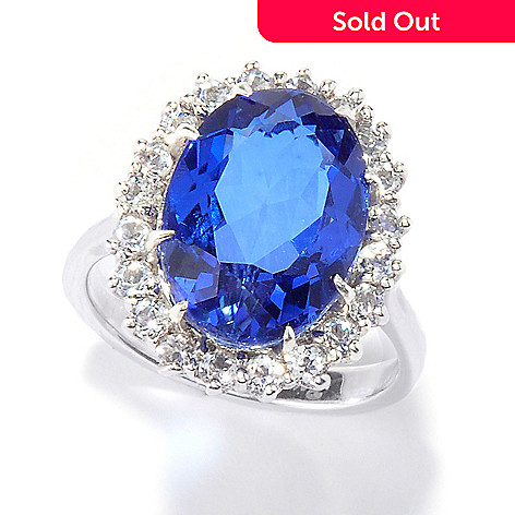 114-928 - Gem Treasures® Sterling Silver ''Royal Dreams'' Quartz Doublet Ring