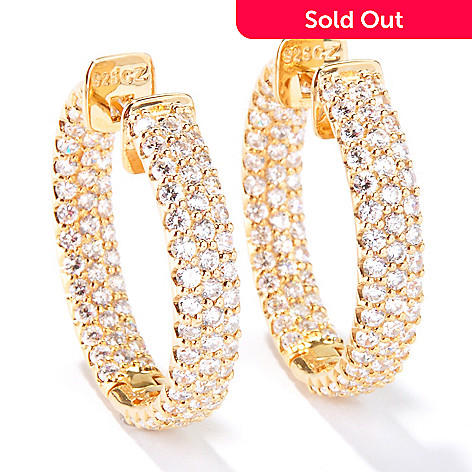 115-083 - Sonia Bitton For Brilliante® 5.58 DEW Inside-Out Hoop Earrings