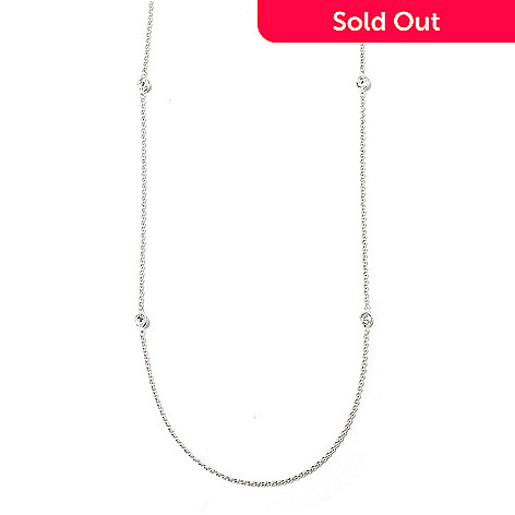 115-111 - BELITA[ PlatinumEmbraced Brilliante 2.50 DEW 36'' Station Necklace