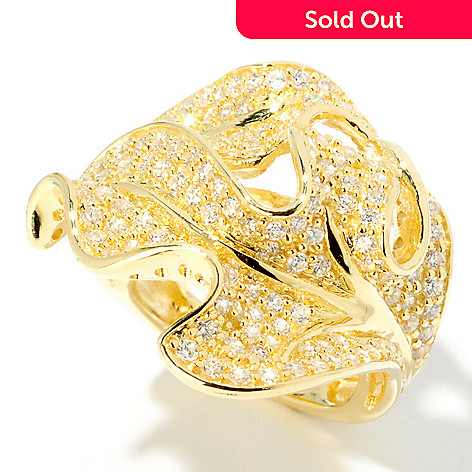 115-393 - Sonia Bitton For Brilliante Gold Embraced Bold Leaf Ring