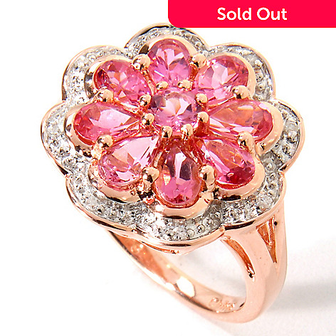 115-413 - NYC II® 1.54ctw Pink Tourmaline & Diamond Accent Ring