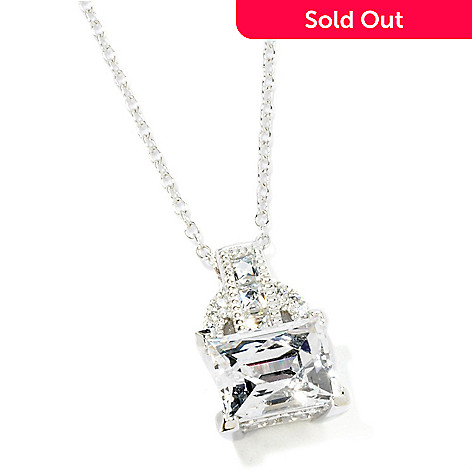115-432 - TYCOON for Brill Platinum Embraced[ 1.96 DEW Rectangular Pendant w/ Chain