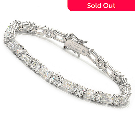 115-437 - TYCOON Round & TYCOON CUT Simulated Diamond Tennis Bracelet