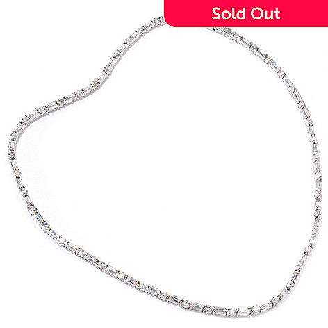 115-558 - BELITA™ Platinum Embraced™ Brilliante® 16'' or 18'' Tennis Necklace