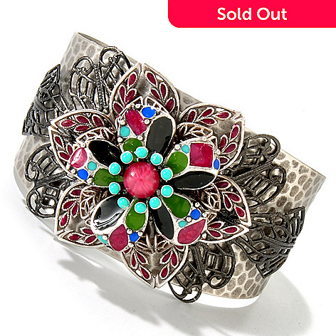 115-822 - Sweet Romance™ 6.5'' 1940's Inspired Dawn Flower Cuff Bracelet