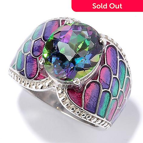 115-907 - NYC II™ 3.50ctw Exotic Topaz & Gradated Enamel Ring