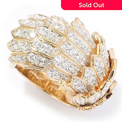 116-429 - Sonia Bitton for Brilliante® 2.85 DEW Feather Dream Fit Ring