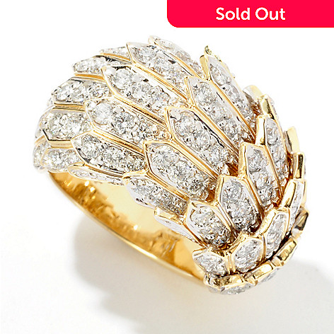 116-497 - Galerie de Bijoux[ 14K Gold Feather Dream Fit Ring