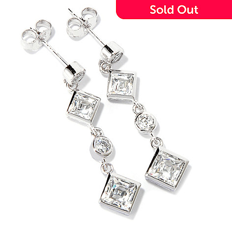 116-513 - TYCOON Platinum Embraced™ 2.68 DEW Simulated Diamond Dangle Earrings