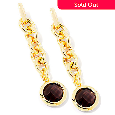 116-539 - Milano Luxe Gold Embraced[ 8.00ctw Gemstone Briolette Drop Earrings
