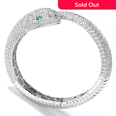116-556 - Sonia Bitton For Brilliante® Platinum Embraced™ 7.54 DEW Snake Bracelet