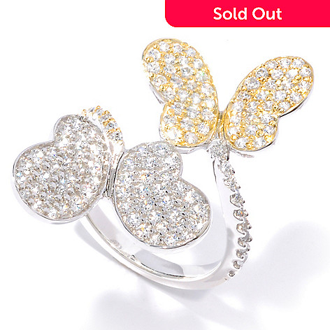 116-567 - Sonia Bitton For Brilliante Two-Tone 1.33 DEW Butterfly Ring
