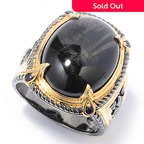 116-829 - Men's en Vogue Hypersthene & Black Diamond Ring