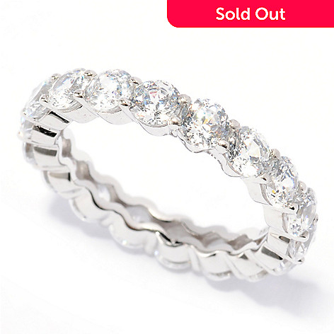 117-022 - Brilliante® Platinum Embraced™ 2.89 DEW 100-Facet Eternity Ring