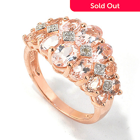 117-072 - NYC II® 2.80ctw Morganite & Diamond Ring