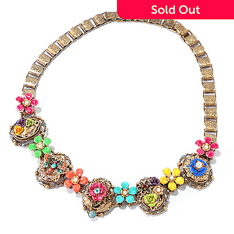 117-263 - Sweet Romance 16'' RetroMex Mayan Garden Necklace