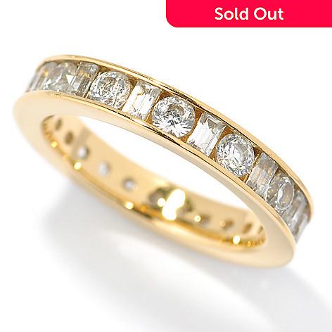 117-340 - Brilliante® 1.92 DEW Baguette Cut Simulated Diamond Eternity Band Ring