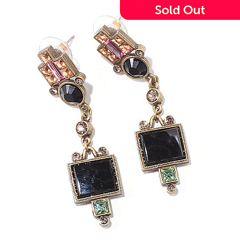 117-573 - Sweet Romance 2.25'' Geometric Art Deco-Style Drop Earrings