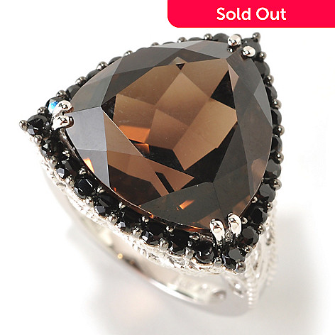 117-809 - NYC II Quartz Trillion & Black Spinel Ring