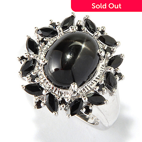 117-851 - NYC II™ 11 x 9mm Black Star Diopside & Black Spinel Ring