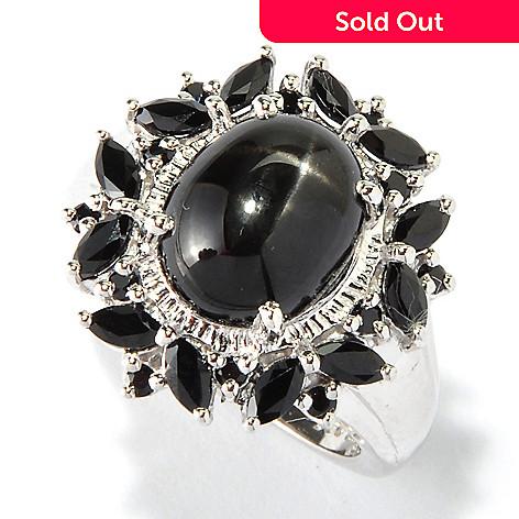 117-851 - NYC II® 11 x 9mm Black Star Diopside & Black Spinel Ring