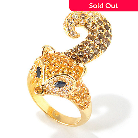 117-855 - NYC II 2.83ctw Pave Multi Gemstone Fox Ring