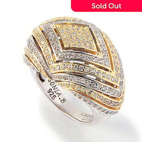 117-875 - Sonia Bitton for Brilliante® Platinum & Gold Embraced Dome Ring