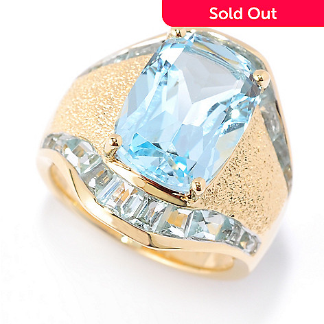 117-903 - Omar Torres Cushion-Cut & Tapered Baguette Gemstone Wide Band Ring
