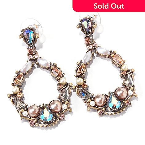 118-246 - Sweet Romance Sea Inspired Crystal Encrusted Drop Earrings