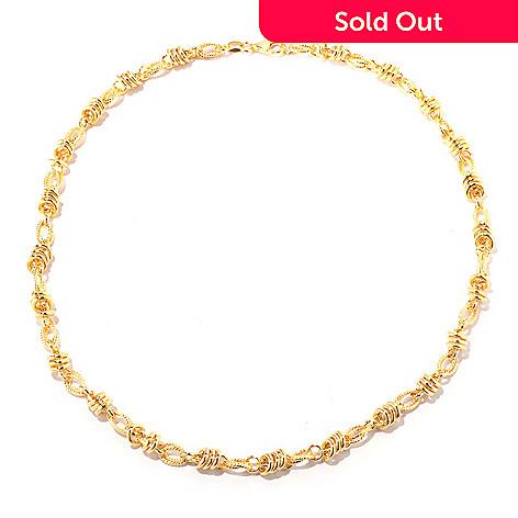 118-300 - Portofino Gold Embraced™ 20'' Textured Status Link Necklace