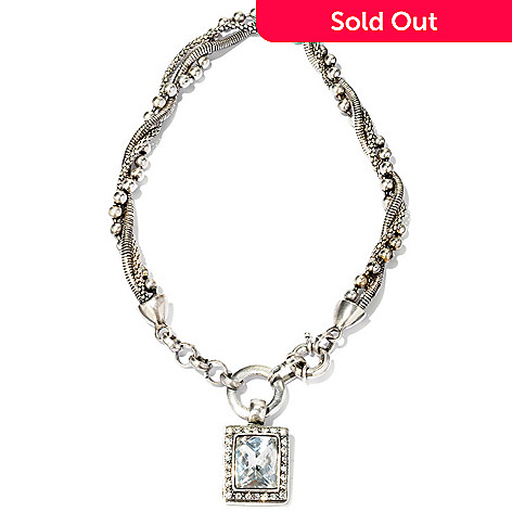 118-332 - The Find Jewelry By Annie G. Silver-tone 18.25'' Demure Diva Crystal Drop Necklace