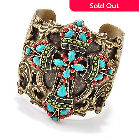 118-377 - Sweet Romance 7'' RetroMex Mayan Cross Cuff Bracelet