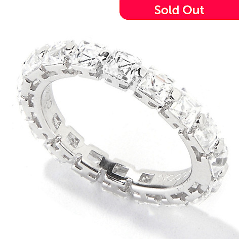 118-595 - TYCOON Platinum Embraced™ 3.44 DEW Simulated Diamond Square Eternity Ring