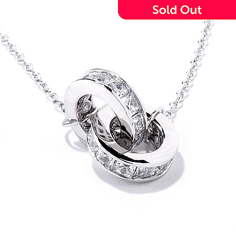118-615 - TYCOON for Brill Platinum Embraced[ 18'' 4.34 DEW Linked Circles Necklace
