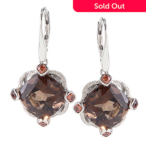 118-627 - NYC II 1.25'' 12.14ctw Cushion Cut Quartz & Zircon Drop Earrings