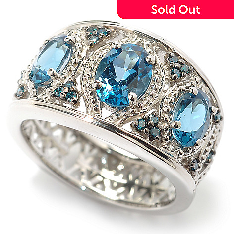 119-160 - NYC II® 1.63ctw London Blue Topaz & Blue Diamond Ring
