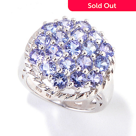 119-195 - Gem Insider Sterling Silver 3.10ctw Tanzanite Circle Ring