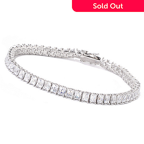 119-242 - TYCOON Platinum Embraced™ TYCOON CUT Simulated Diamond Tennis Bracelet