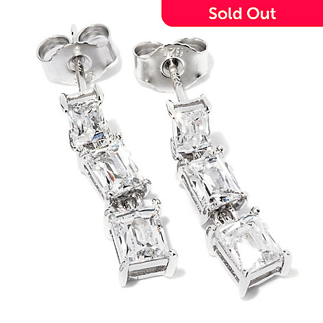 119-243 - TYCOON for Brilliante® Platinum Embraced™ 1.92 DEW Graduated Rectangular Drop Earrings