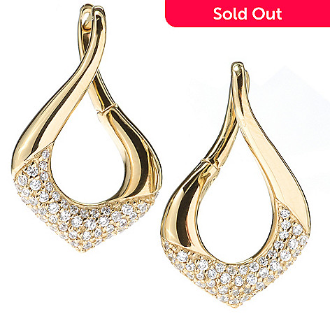 119-361 - Sonia Bitton 1.22 DEW Twisted Marquise Shaped Simulated Diamond Drop Earrings