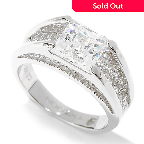 119-375 - TYCOON Platinum Embraced™ 2.58 DEW Pave Simulated Diamond Band Ring